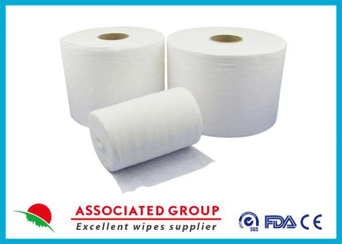 Food Services Spunlace Nonwoven Fabrics High Saturation Rate Embossed