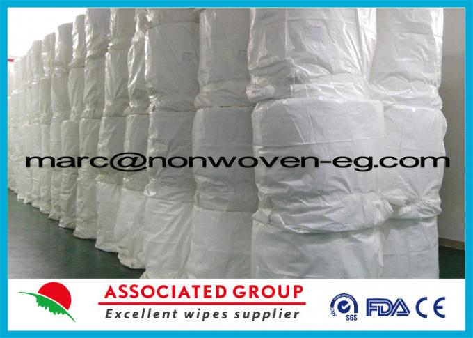 Printed Spunlace Nonwoven Fabric 100 % Viscose / Rayon / Cellulose / Woodpulp / Pulp