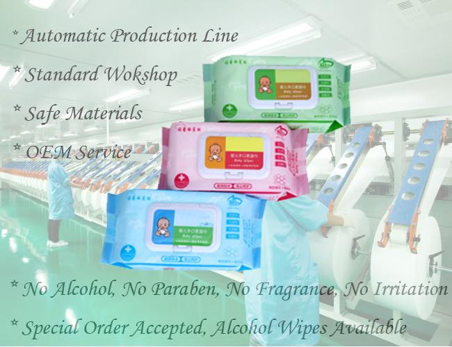 Various Packages Baby Wet Wipes Plain Spunlace Nonwoven Bulk Alcohol Free
