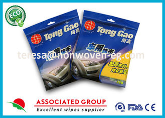 Tool Non Woven Cleaning Wipes Viscose / Polyester Blending Fiber For Cars