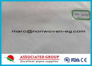 50% Viscose 50% Polyester Spunlace Nonwoven Fabric Cross Lapping Plain Pattern