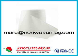Plain Spunlace Non Woven Cotton Fabric 40gsm 30% Visocose / Rayon And 70% Polyester