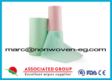 Green Pink Non Woven Wipes Spunlace Nonwoven Fabric 65gsm 20% Viscose 30cm*90pcs