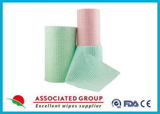 Green Spunlace Nonwoven Fabric / non woven cloth 100% biodegradable