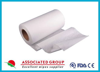 Plain Spunlace biodegradable non woven fabric , 50Gsm non woven material User Friendly