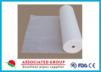 50% Viscose Healthy Non Woven Cloth Cross Lapping Soft Hygeian White