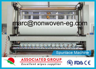 Entangled Nonwoven Spunlace Fabric Hydroentangled Spun Lace Plain / Embossed Cross Lapping