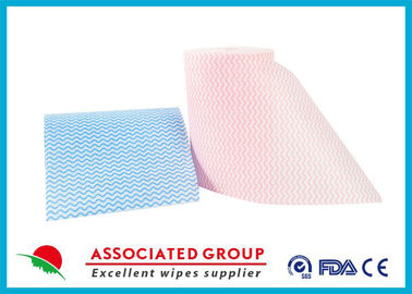 Viscose And Polyester Spunlace Nonwoven Fabric Roll For Widely Used , High tensile strength
