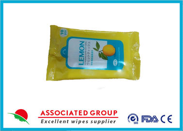 Promotional Packaging Antibacterial Wet Wipes Lemon Extract Spunlace Nonwoven Material