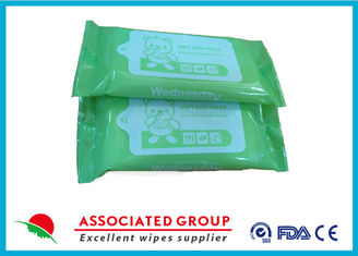 China Portable Design Unscented Antibacterial Wet Wipes For Cleaning Hands / Body supplier