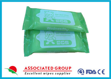 Portable Design Unscented Antibacterial Wet Wipes For Cleaning Hands / Body