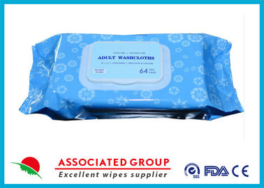 China Premium Spunlace Adult Wet Wipes , Disposable Adult Wash Cloth Extra Large Size supplier