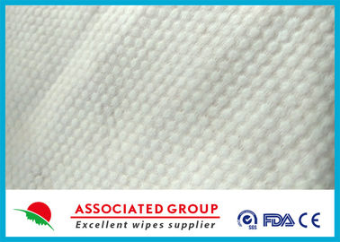 Small Pearl Dot Spunlace Nonwoven Fabric , Nonwoven Roll Ultra Thick 30~120GSM