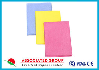 Needlepunched Nonwoven Cleaning Wipes Color Dyeing Disposable Or Recycle use