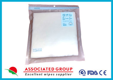 Cleansing Disposable Dry Wipes Spunlace Fabric Material High Tensile Strength