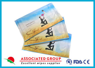 China 20 * 16cm Unscented Feminine Wipes Skincare Ingredients 10PCS / Bag 50GSM supplier
