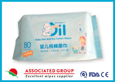 Comfortable Dry Disposable Wipes Not Remove Flocculation 80 Counts Per Pack