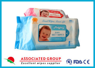 Disposable No Fragrance Baby Wet Wipes 80pcs Flowpack With Lid Small Dot Spunlace