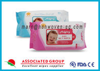 China Baby Wet Tissue Wipes / Individual Flushable Moist Wipes for Travel company