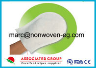 China Hospital Microwavable Pre Moistened bathroom cleaning gloves Incontinence Care factory