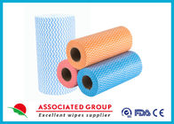 Colorful Printing Spunlace Non Woven Fabric Roll For Household Cleaning