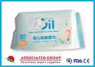 Comfortable Disposable Dry Wipes Not Remove Flocculation 80 Counts Per Pack